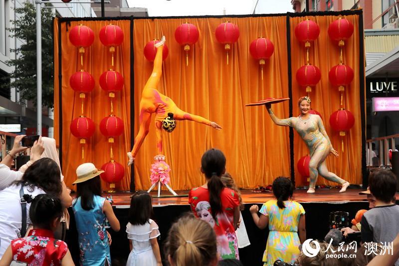 悉尼农历新年庆典开幕陕西演出团首秀唐人街